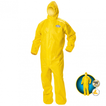 KLEENGUARD* A70 Chemical Spray Protection Coveralls / Hooded