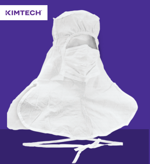 KIMTECH PURE* A5 Sterile Integrated Hood and Mask with CLEAN-DON* Technology